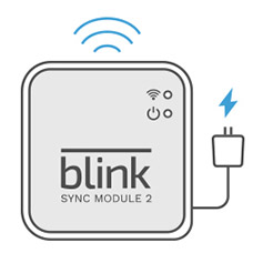 Plug into an outlet and sync module to wifi